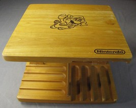 RARE NINTENDO NES SUPER MARIO WOODEN GAME HOLDER ROTATING Wood & Vintage - $72.95