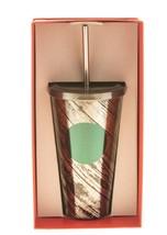 Starbucks Dot Gunmetal Black Paint Streak Stainless Steel Cold Cup Tumbl... - $43.23
