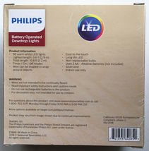 Philips 30 Warm White Fairy Red Star LED Dewdrop String Fairy Lights Timer NEW image 5