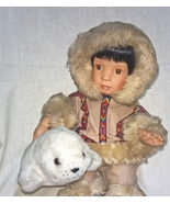 Hamilton Nica Native American Doll with Plush Seal Toy in Original Box 1... - $19.95