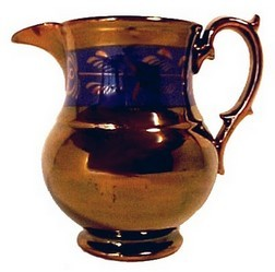 14884bon antique copper lustre 5 inch china creamer pitcher jug pottery