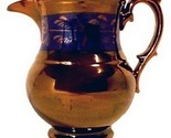 14884bon antique copper lustre 5 inch china creamer pitcher jug pottery thumb155 crop