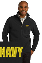 US NAVY logo Black Embroidered Port Authority Core Soft Shell Jacket J317 - $39.99+