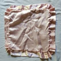 Gerber Baby Security Blanket Lovey Little Clutch Pink Satin White Fleece... - $98.99