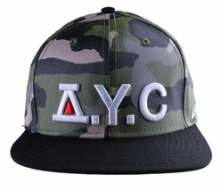 Asphalt Yacht Club Camo Green Black Hunt Snapback Baseball Hat AYC1410920 NWT