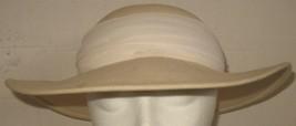 Vintage Womens Ivory/Cream Wool Felt Hat - $18.81