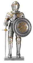 YTC Pewter French Knight Statue Figurine Decoration - $19.79