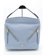 NWT MICHAEL Michael Kors Evie Blue Leather Large Hobo Shoulder Bag Purse... - $178.00