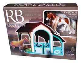 Lanard Royal Breeds Award Winning Build-A-Stable with Chestnut Tobiano NIB - $14.88