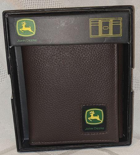 John Deere LP12269 Gem Dandy Accessories Brown Trifold Wallet