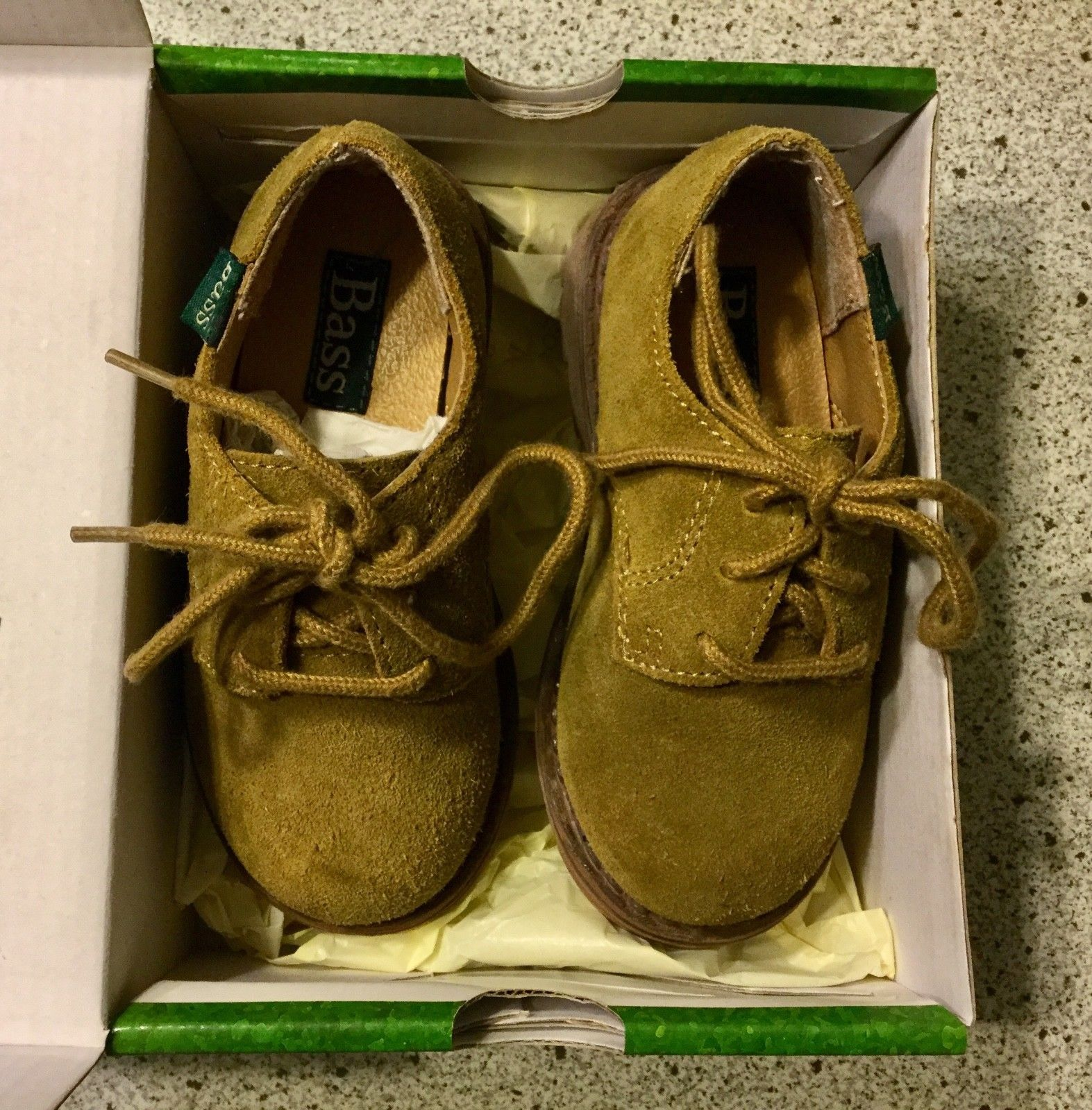 Baby Bass Tan Bucky II 2 Boys Shoes Size 8 M Leather 6547-261 With Box