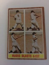 d3ccac5047 Roger Maris 1962 Topps #313 Baseball Card NY Yankees VG+ Maris Blasts 61st  - $23.65 · Add to cart · View similar items
