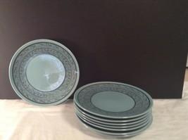 Taylor Smith Taylor TST Shades of Grandeur mediterranean Blue Salad Plat... - $51.94