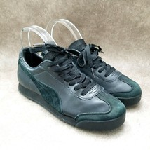 Puma Womens  VPM-0507 Sz 7.5 M Black  Leather Lace Up Low Top Sneakers - $27.99