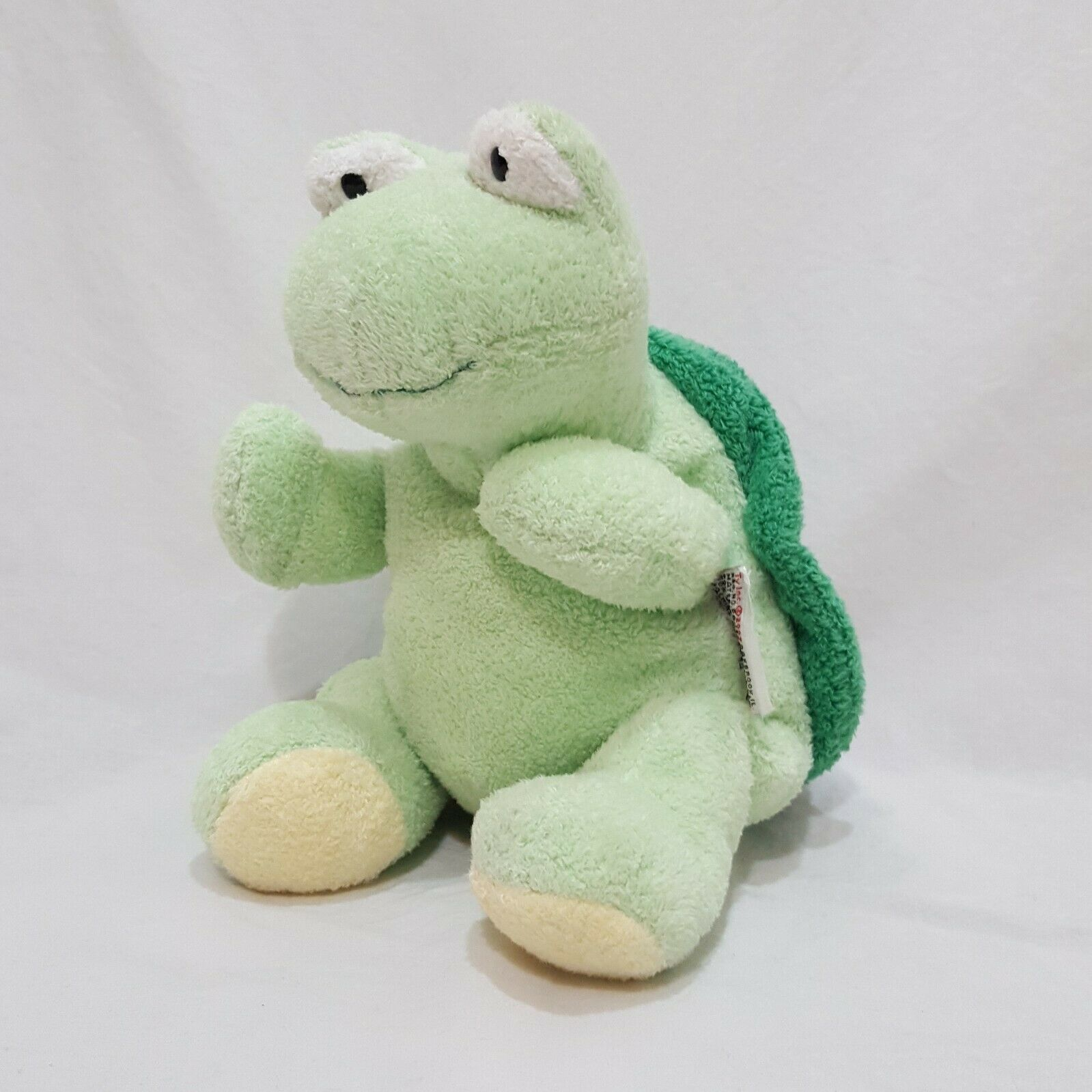 "Ty Pluffies Zips Green Shell Turtle Baby Lovey Plush Stuffed Animal 9"" 2007"