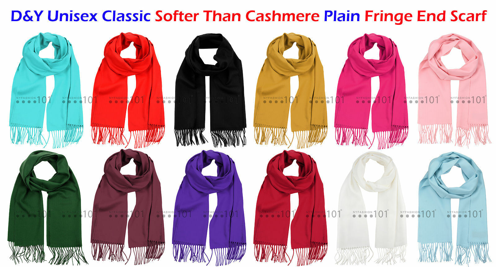 """New Fashion *D/&Y* Solid Men/'s /""""SOFTER THAN CASHMERE?/"""" Scarf Purple"""