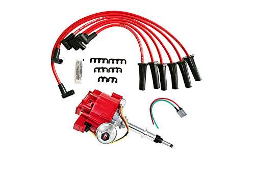 A-Team Performance HEI Distributor 65K Coil 7500 RPM Complete Kit w/Red Silicone