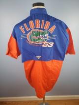 NWT Columbia PFG UF Florida Gators Mens Orange Vented Fishing Button Shirt Sz XL - $49.49