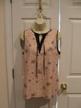 NWT WORTHINGTON $30  sleeveless top lace trimmed back shoulders size medium - $15.04