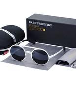 BARCUR Retro Aluminum Magnesium Sunglasses Polarized Vintage Eyewear Accessories - $30.62