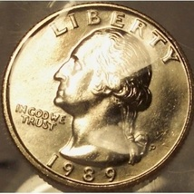 1989-P Washington Quarter MS65  #875 - $9.59