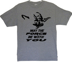 "Star Wars Yoda's Face ""May The Force Be With You"" T-Shirts (S/M/L/XL) 2XL/3XL - $20.78+"