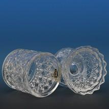 Vintage Fenton Art Glass Crystal Fine Cut and Block Fairy Light c1981 image 2
