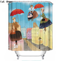 Cartoon 68 Shower Curtain Waterproof Polyester Fabric For Bathroom   $33.30+