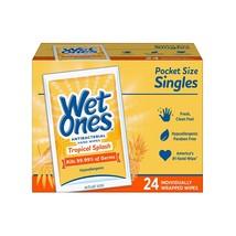 Wet Ones Antibacterial Hand & Face wipes, Citrus Scent Singles, 24Count - $6.99