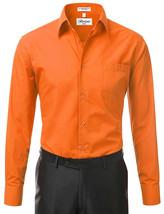 Berlioni Italy Men's Classic Standard Convertible Cuff Dress Shirt - 2XL image 2