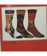 A Nightmare on Elm Street Crew Socks 3 Pair Pack Men Shoe Size 8-12 Chri... - $10.89