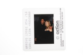 Vintage photo of Carlos Leon and Madonna American singer-songwriter.  - $18.41
