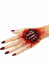 Hand Bones Halloween Fake Prosthetic Latex Joke Scar Fancy Dress Zombie Make Up - $18.15
