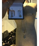 Peridot Necklace & Earrings SS w Whhite Sapphires - $110.00