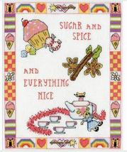 Design Works Sugar and Spice Cross Stitch Kit, girls, 8x10in, aida - $14.99