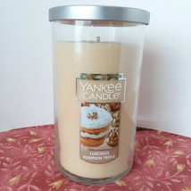Yankee Candle Luscious Pumpkin Trifle 12 Oz Pillar Jar Burn Time 80 - 110 Hrs - $17.45