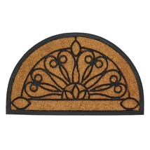 "Semi-Circle Coir backed and edged in Rubber 18"" x 30"" Door Mat  - $29.99"