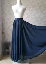 Silver Gray Chiffon Bridesmaid Skirt Floor Length Chiffon Wedding Party Skirt image 13