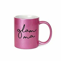 Glam Ma 11 oz Metallic Pink Novelty Coffee Mug, Family Gifts - $20.72