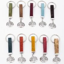 10 units Natural Cork keychian life of tree handmade cork Keychain origi... - $27.58