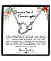 Grandmother & Granddaughter Necklace Gift, Granddaughter Birthday Gift,  - £18.28 GBP