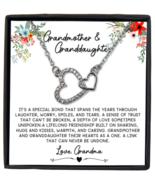 Grandmother & Granddaughter Necklace Gift, Granddaughter Birthday Gift,  - £18.17 GBP