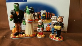 Dept 56 Snow Village Halloween Accessory - 1999 TREATS FOR THE KIDS 3 Pc... - £15.16 GBP