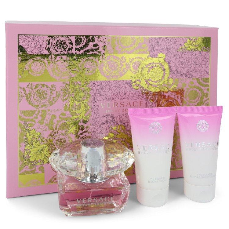 Versace bright crystal perfume 3 pcs set