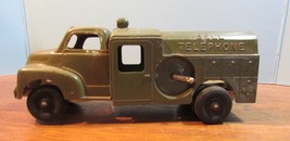Vintage Hubley Kiddie Toy No. 475 Green Bell Telephone Truck Made In USA - $50.49