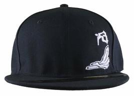 Dissizit ! Fumée Bols Skateboard D OS Ramp Noir Baseball Snapback Chapeau Nwt