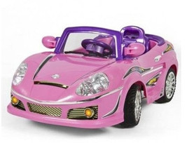 Pink Car Ride Toy Girls Wheels Battery Power Girl Remote Control Kids To... - $231.66