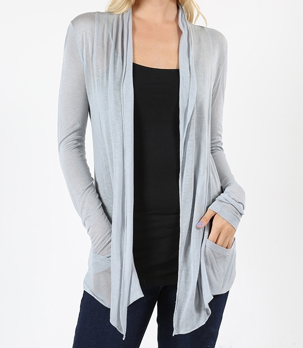 Lightweight Cardigan, Lightweight Summer Cardigans, Lightweight Cardigans, Gray