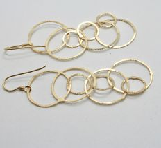 Drop Earrings 925 Silver Gold Foil & Circles by Maria Ielpo Made in Italy image 6