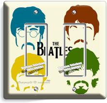 The Beatles Pop Art John George Paul Ringo Double Gfci Light Switch Cover Decor - $9.71